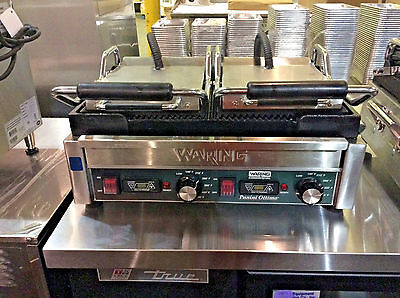 Waring WPG300T Panini Ottimo Grooved Top & Bottom Panini Sandwich Grill