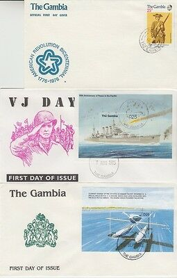 The Gambia - Special Events, Views, & Anniversaries (7no. PO FDC's) 1975-96