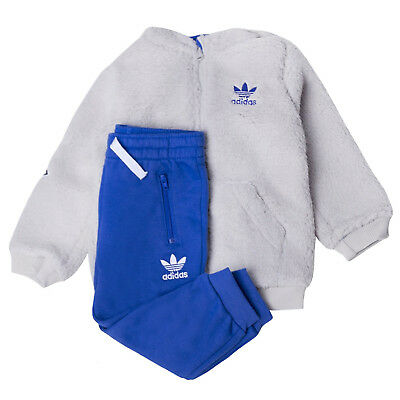 Adidas Originals Infants Polar Fleece Hoodie Hoody and Bottoms Pants Set B GRADE