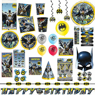 DC Comics Batman Classic Children's Birthday Party Supplies Tableware Listing