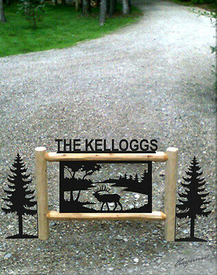 Elk-Hunting Gifts-Clingermans Rustic Log Signs-Outdoor Sign-Wildlife Art-Elk1524