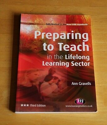 Preparing To Teach In The Lifelong Learning Sector Ann Gravells Paperback Book