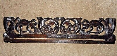 """Vintage Bali Hand Carved 20"""" Rod Pole With Slot"""