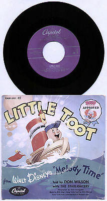 "[Bozo Approved] Don Wilson & The Starlighters ~ Little Toot ~ Us 7"" Single + P/s"