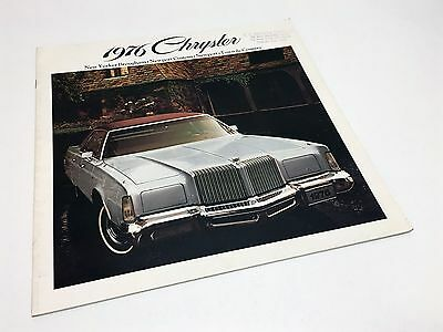 1976 Chrysler New Yorker Brougham Town & Country Newport Custom Brochure