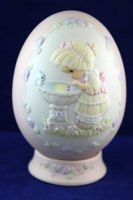 """Precious Moments """"A Reflection of His Love"""" Porcelain Egg Easter 1994 © 1993"""