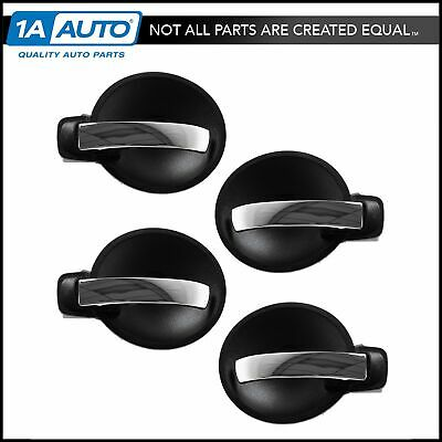 Door Handle Inner Black & Chrome Front & Rear Set of 4 for Charger Magnum NEW
