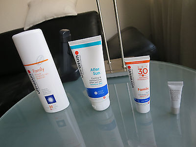 ultrasun . Family sensitive Skin + After sun und Shiseido UV Prot. Cream