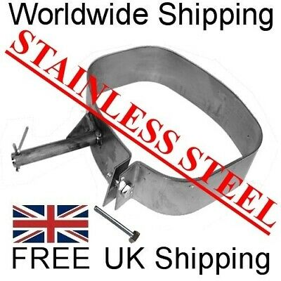 STAINLESS STEEL Exhaust Band Strap Mount Hanger Bracket Repair Back Rear Box