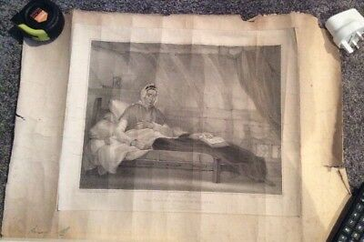 Old Print Picture The Fasting Woman Of Tutbury Ann Moore Engraving