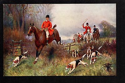 Fox Hunting set of 6 series 11 - artist drawn printed p/c's by J.Sanderson Wells