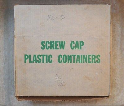 Box Of 100 Used Round Cent Tubes - No Coins