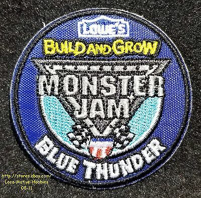 LMH Patch  2016 MONSTER JAM Truck BLUE THUNDER 4x4 LOWES Build Grow Kids Clinic