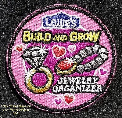 LMH Patch  2010 JEWELRY ORGANIZER Holder Bling Box LOWES Build Grow Kids Clinic