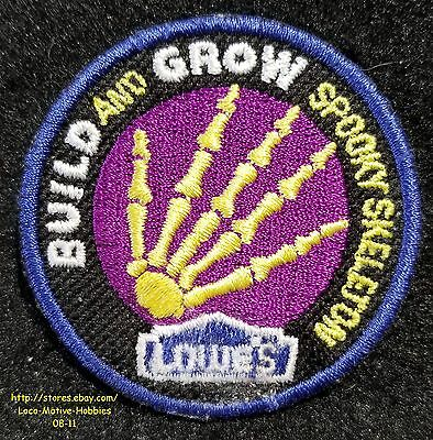 LMH Patch 2008 SPOOKY SKELETON Hand Bones LOWES Build Grow Kids Clinic Halloween