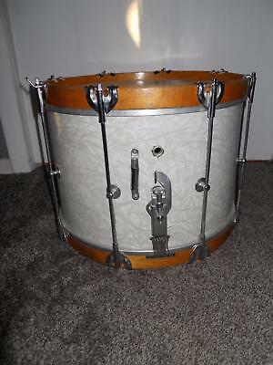 Antique Marching Snare Drum With Original Heads And Snares Unknown Maker