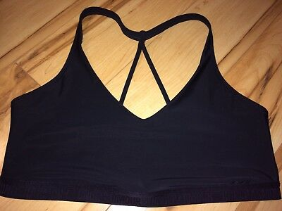 Under Armour Athletic Sports Bra Shelf Sz L Black Running Workout