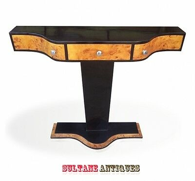Top Art Deco style and forms ebony maple console