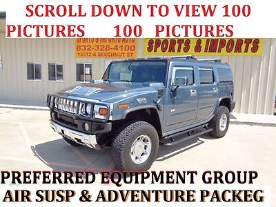 2005 Hummer H2 Adventure  Air suspension Sunroof  NO RESERVE NO RESERVE AUCTION LUXURY ADVENTURE AIR SUSPENSION SUN ROOF 91 K
