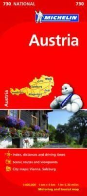 Austria Map by Michelin 9782067171787 (Sheet map, folded, 2012)