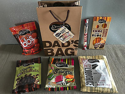 New Sealed Darrell Lea Dads Bag 1KG Assorted Chocolate Items Fathers Day Gift