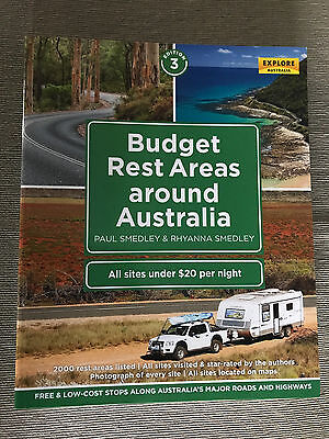 Brand New 3rd Edition Budget Rest Areas Around Australia Large Soft Cover Book