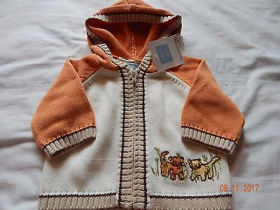 NWT Janie & Jack Boys 0-3 Months Little Lion Fall Hooded Sweater New Precious
