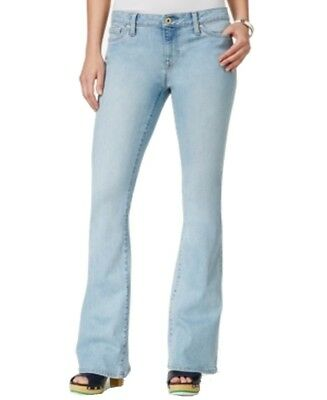 Tommy Hilfiger NEW Women's Size 2X32 Light Wash Mid-Rise Flare Jeans $79 #094