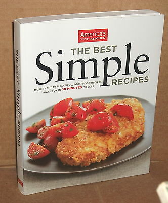2010 AMERICA'S TEST KITCHEN THE BEST SIMPLE RECIPES Cookbook
