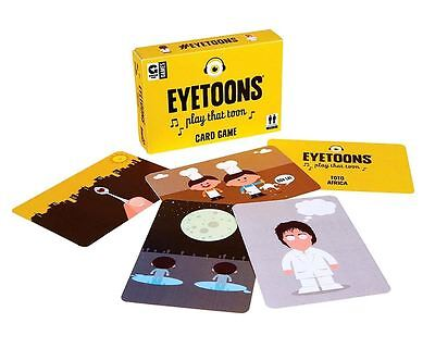 Eyetoons Card Game Music Knowledge After Dinner Family Party Travel Game