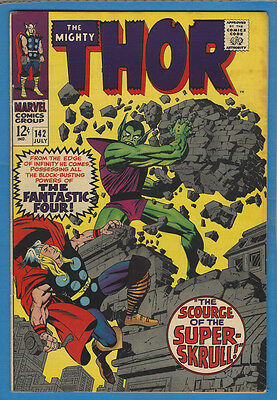 Thor 142 F/VF 1967 Marvel Stan Lee Jack Kirby Super Skrull