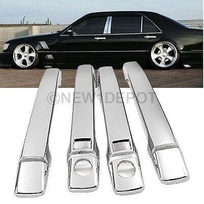 Chrome Side Door Handle Cover For Mercedes W140 S-Class S320 S500 S600 91-99 ND