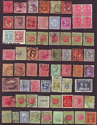 "Old Commonwealth   Postage & Revenue  "" Down Under "" 1 Page  == 60 + Stamps"