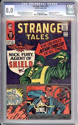 Strange Tales # 135  1st appearance of Nick Fury !  CGC 8.0  scarce book!