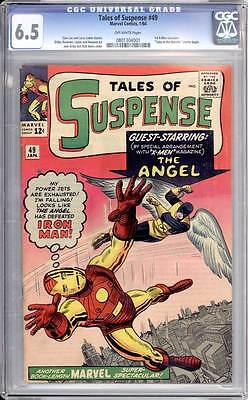 Tales of Suspense # 49  1st X-Men crossover ; The Angel ! CGC 6.5  scarce book !