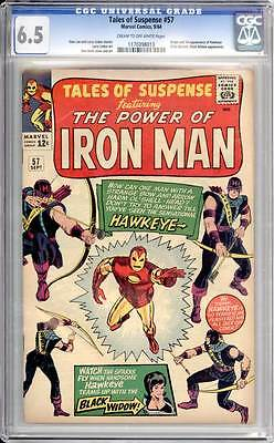 Tales of Suspense # 57  First appearance of Hawkeye !  CGC 6.5  scarce book !