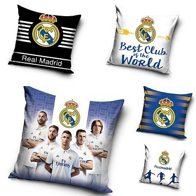 Official Real Madrid Decorative Cushion Cover Pillow Case Cotton / Boys Bedroom