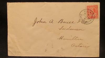 1907 Postally Used #8 Cover with Niag'a Falls & London RYPO RPO Cancel