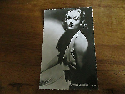 CAROLE LOMBARD CPSM cp cpa postcard real 1950s cinéma movie actress actrice USA