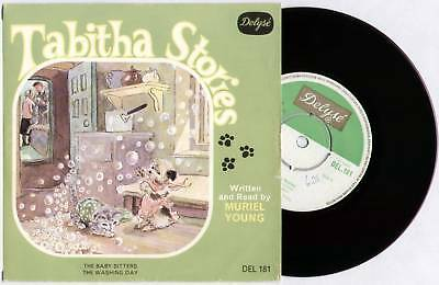 "Muriel Young ~ Tabitha Stories ~ 1966 Uk 7"" Ep Single + P/s ~ Delyse Del 181"