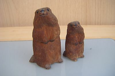 carved wooden beavers/chipmonks? (poss.black forest)?