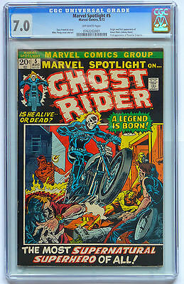 1972 Marvel Spotlight #5 GHOST RIDER - CGC 7.0  1st App & ORIGIN of Ghost Rider!