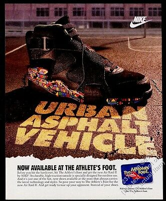 1993 Nike Air Raid II shoe photo vintage print ad