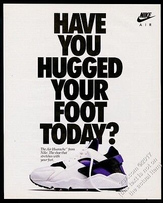 1992 Nike Air Huarache shoes photo vintage print ad