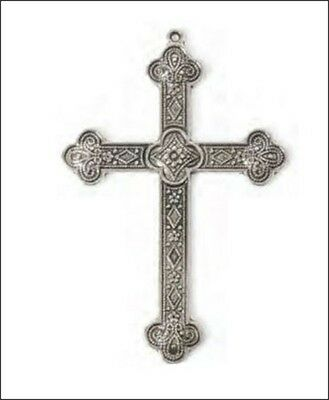 Steampunk Large Milgrain Silver Cross