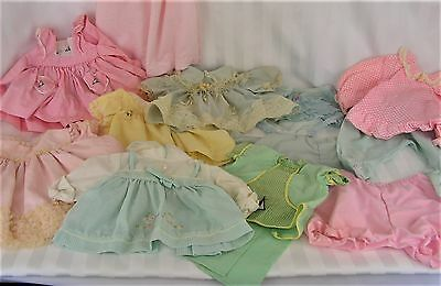 13 Vintage Mixed Lot of Baby Dresses and Panties Underwear for big dolls (D-2)