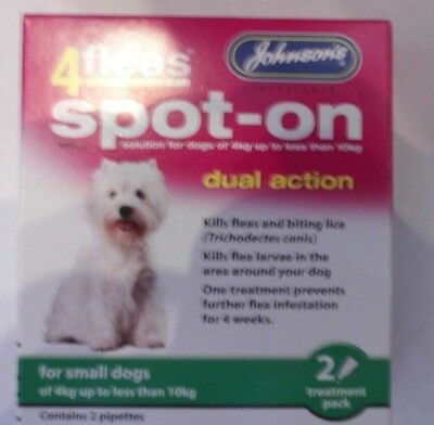 Johnson's 4Fleas Dual Action Spot On For SMALL DOGS