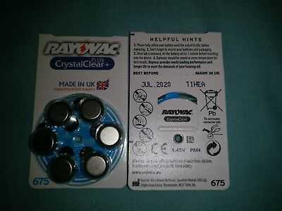 2 X Rayovac Hearing Aid Batteries Size 675 X 12 Batteries Very Good Date