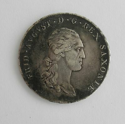 1813 Germany Saxony Silver 1/3? Thaler Coin~~Real Nice