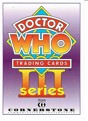 Doctor Who Cornerstone Series 3 Promotional Card C1